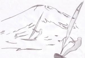Эмблема ассоциации зимнего виндсерфинга